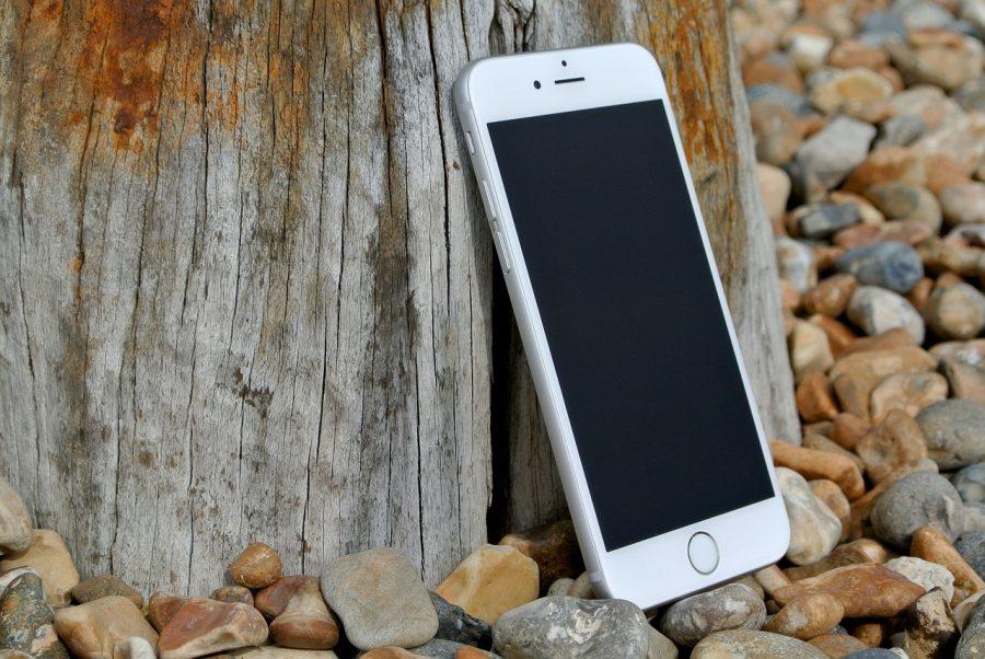 隅に置かれるiPhone