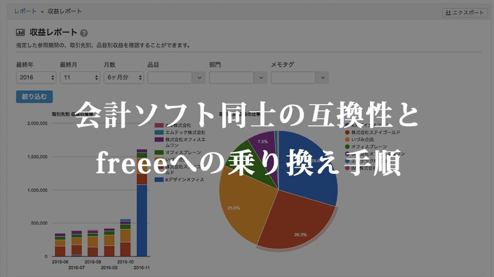 会計ソフト同士の互換性とfreeeへの乗り換え手順
